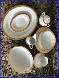 106 Pieces! Contemporary Fine China by Noritake Majestic Gold 4290 SET FOR 16