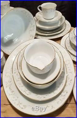 106pc NORITAKE DUETTO 1965 China Set Service for (10)- 7pc Place Setting +Teapot