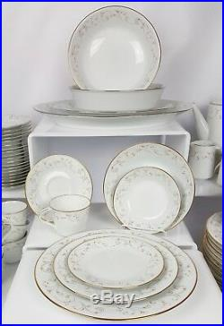 111 Pc Noritake Duetto Dinner Serving Set 12 Place Settings Platters China 6610