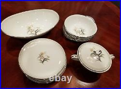 12 Pieces Noritake China Set-Renee- Easter Lilies Pattern Excellent Condition