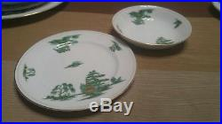 12 place setting 93 pc lot mikasa Manchu narumi Green willow fine China RARE