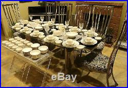 146pc Noritake Ivory China #7531 Gold Ivy China Quintessential Setting for 12