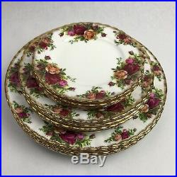 15pc Royal Albert Old Country Roses China 5 Dinner Salad & Bread Plate Sets 2nds