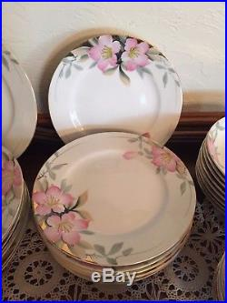 19322 Noritake China Azalea 72 Piece setting for 8-cups, saucers, bowls and plates