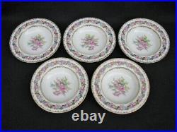1940's Set 10 Noritake LADY ROSE Hand-Painted China 8 1/8 Rim Soup Bowls Mint