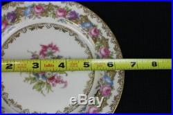 1940's Set 12 Noritake LADY ROSE Handpainted China Bread & Butter Plates #4082