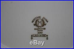 1940s Rare Set 12 Noritake LADY ROSE Handpainted China Dinner Plates Japan Mint