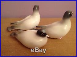 1946 NORITAKE PIGEON Bird Set of 3 Porcelain Figurines Bone China
