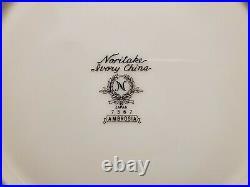 1960's Noritake Ambrosia 7567 Ivory China 7 Pc Place Setting / Service For 12