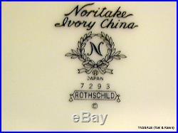 20 pc Set NORITAKE Ivory china ROTHSCHILD pattern 4 X 5 Piece Place Settings
