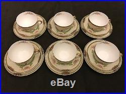 21-Pc Vintage Japanese Noritake Floreal Fine China Porcelain Tea Set 76839