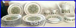 21 pc set Noritake Progression China 9020 Palos Verde dinner/salad plates bowls+