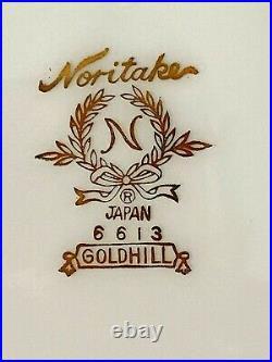 24 Pc Noritake Goldhill Bone China Set for 4 Christmas Holiday Red