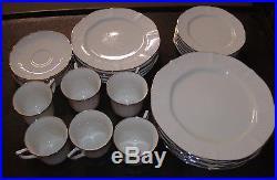 30 Pc Noritake Ivory China CHANDON PLATINUM (6) 5 Piece Settings #7367 FREE SHIP