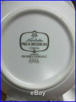 34 piece Noritake Homecoming SET SERVICE Mid-Century BoHo Hippy China