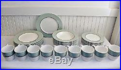 36 Pieces of Noritake Ambience Green China Dinnerware Plates Bowls Cups Nice Set