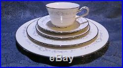 40pc. Noritake Ivory China Heather 8 -5piece Place Settings Plates Cups # 7548
