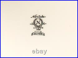 40pcs Vintage Noritake Japan Graymere Fine China Set Tea Dinnerware White Silver