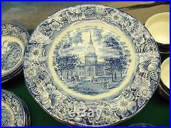 42 Piece Set Of Liberty Blue China