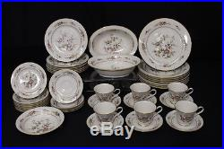 42pc Set Vintage Noritake ASIAN SONG #7151 Ivory Porcelain China for 8, Japan