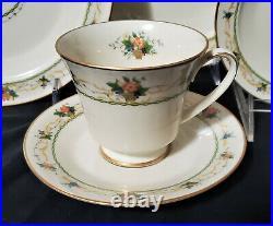 43 pc NORITAKE Dinnerware Set NORMANDY Service / 8 Porcelain China plate shaker