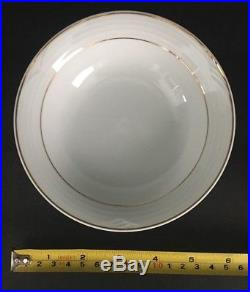 44 pcs Set of Fine China by Noritake ARTIC GOLD 4001 White with Gold Trim EX/MT