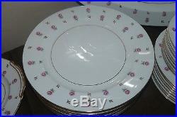 47 Piece Set Noritake China Rosalie Pattern Service for 8 plus Serving Pieces