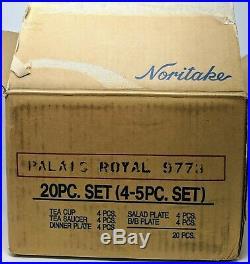 4 Noritake China PALAIS ROYAL 5 Piece Place Settings 20 Pieces New In Box