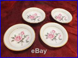4 x 7pc place Setting Noritake 5234 LINDROSE Pink Roses China 1951-1960 MINTY