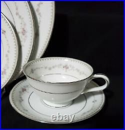 50 pc NORITAKE Dinnerware Set FAIRMONT Service / 8 Porcelain China plate bowl
