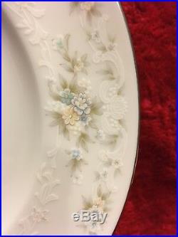 51 piece set Noritake China Ireland Patience 2964 Blue/Tan Flowers