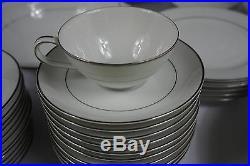 56 Pcs Noritake Derry China Set 5931 Platinum Trim