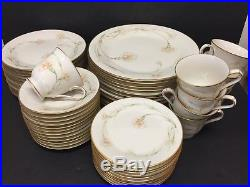 56 Piece Set Noritake Weyburne 7248 China Almost Service For 12