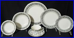 56 pc NORITAKE Dinnerware Set PRELUDE Service / 8 Porcelain China IVORY plate