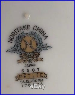57 Pc 8 Ppl GORGEOUS NORITAKE CHINA DISH SET Petite Pink Silver