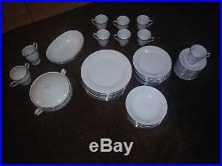 59 piece Noritake 2752 Pattern Temptation Complete Fine China Dinnerware Set