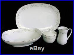 5 SERVING PIECES Noritake ANNABELLE China Hostess Set