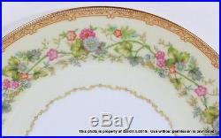 60-PC VINTAGE NORITAKE CHINA ARIANA 12 Place Settings Gold & Floral Plates Cups