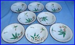 62 Pc Noritake China CANTON Dinnerware Service for 8 & Serving Set Green Bamboo