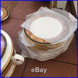 64 Pcs Noritake China Cabot 12 Settings, Butter Dish, Casserole, Sugar, Creamer