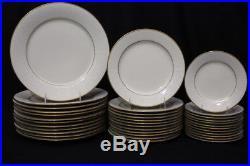 65 Pc. Noritake TULANE 7562 Ivory China Set, Service for 12 Ivory with Gold Rims