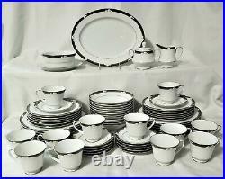 65 pc NORITAKE Dinnerware Set ELLINGTON Service / 12 Fine China Calla Lily
