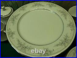 66 PIECE SET OF LEGENDARY BY NORITAKE OF CHINA SWEET LEILANI # 482 WithSILVER RIM