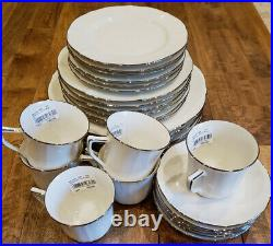 6 Place Settings Noritake China IMPERIAL PLATINUM Dinner Plate Set NEW