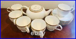 6 Sets Vintage Noritake (Rochelle Gold) Bone China Tea Cups & Saucers With Tea Pot