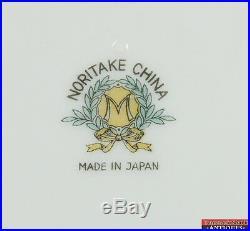 74 pc Noritake Morimura Brothers China Set N161 Gray Columbine Flowers Green