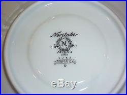 75 Pc Noritake Temptation China Set Service for 12 Plus Silver & Lace Dinnerware