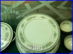 75 Piece Set Of Noritake China Made In China Bristol -pattern # 5504 / 176134