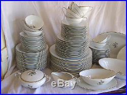 76 Piece Noritake Wheatcroft 5852 Dish Plate Bowl Platter Cup Saucer China Set