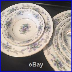 7 Piece Noritake Violette China Place Set. Excel. Free Ship! (BCD)